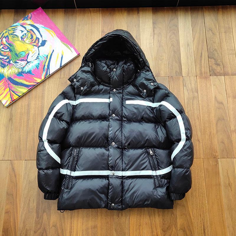 Mejor caliente de gama alta clásico impresa hacia abajo invierno chaquetas al aire libre a prueba de viento Hombres Mujeres Abrigos de Down Jacket calle de la manera Outwear HFYMYRF069