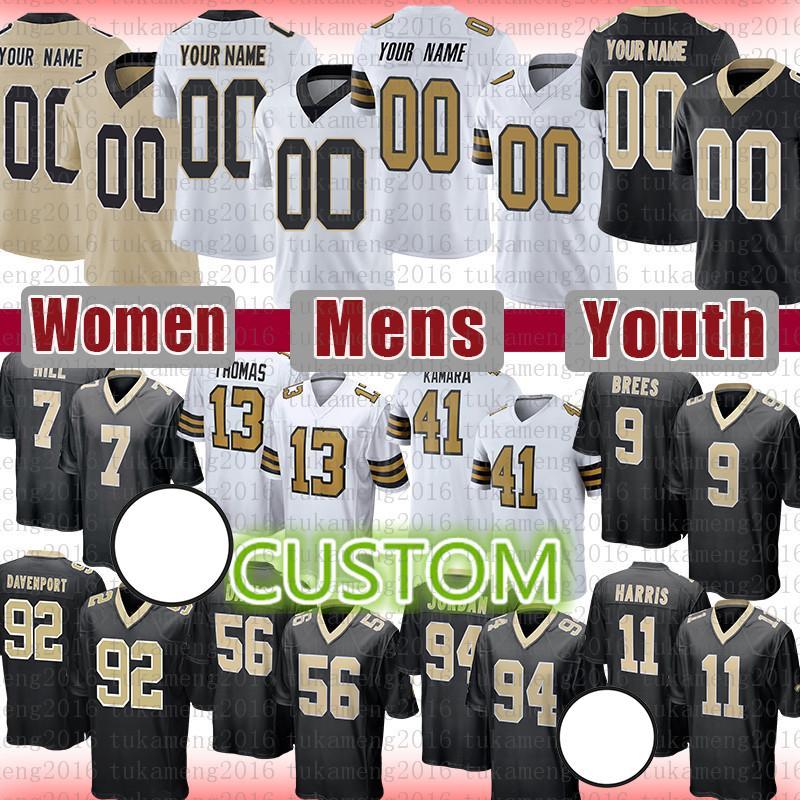 Demario Davis Football Jersey مخصص رجال نساء شباب ستيف جلش مالكولم راش ديوس ماكناس جيميس وينستون توماس درو بريس كامارا