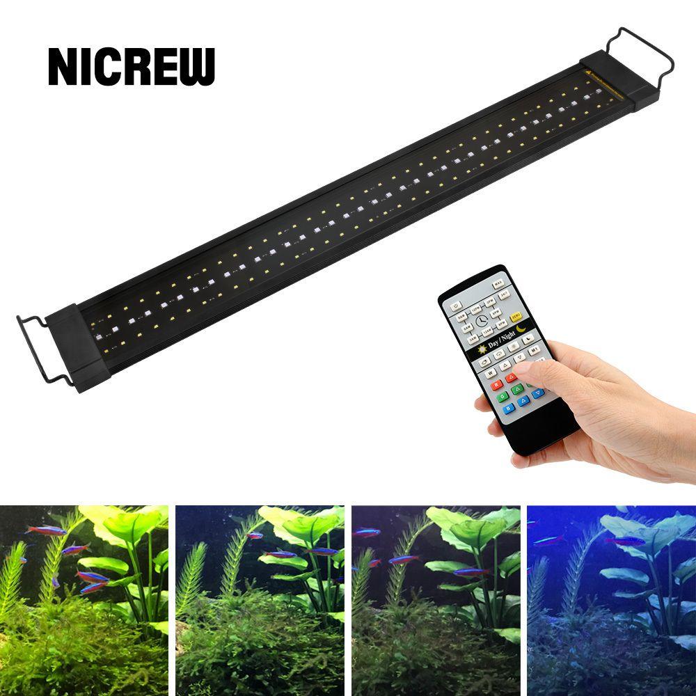 NICREW 76-96cm Aquarium LED Lighting 24/7 Hour Automated with Controller Fish Tank Light for Aquarium 110V-240V Y200917