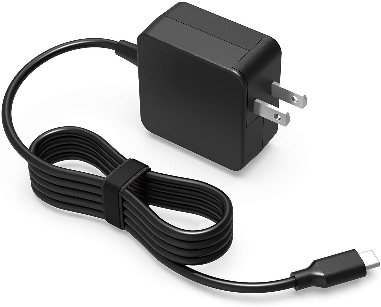45W 학교 크롬 북의 USB 타입 C AC 충전기 맞춤 레노버 C330 100E 300E 500E 크롬 북 2 세대 노트북 전원 어댑터 코드에 대한