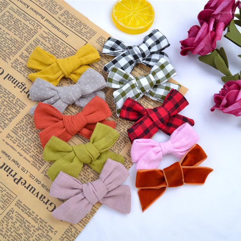 Nuevo leopardo Imprimir Pelo Bows Solid Plaid Hairgrips para niños Niñas Boutique Handmade Harrettes Headwear Moda Accesorios para el cabello1