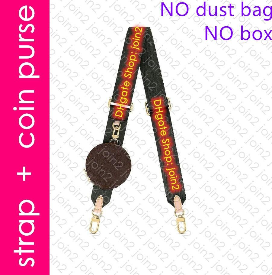 J02493 BANDOULIER épaule réglable en nylon Jacquard Sangle avec ronde Porte-Monnaie Mini multi Pochette Accessoires clé de poche Cles Charm Sac
