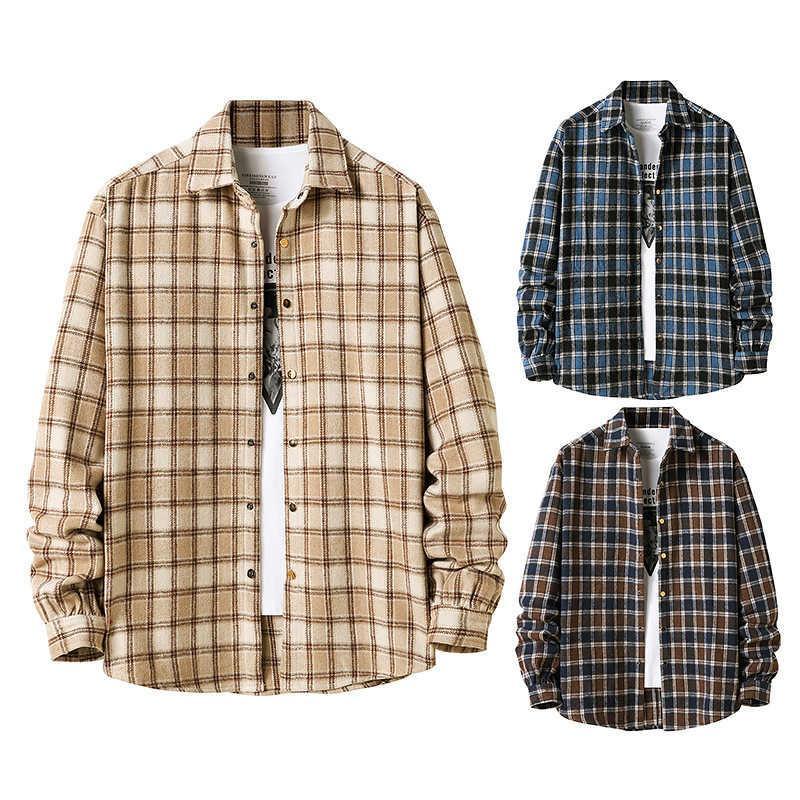 Automne 2021 Nouvelle chemise à carreaux de flanelle américaine