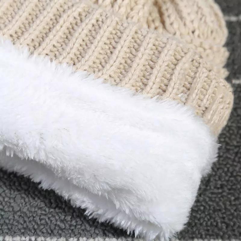 الأطفال الكبار سميكة قبعة الشتاء الدافئة للنساء لينة تمتد كابل محبوك بوم بومس بيني القبعات المرأة skullies beanies فتاة تزلج كاب HHE2901