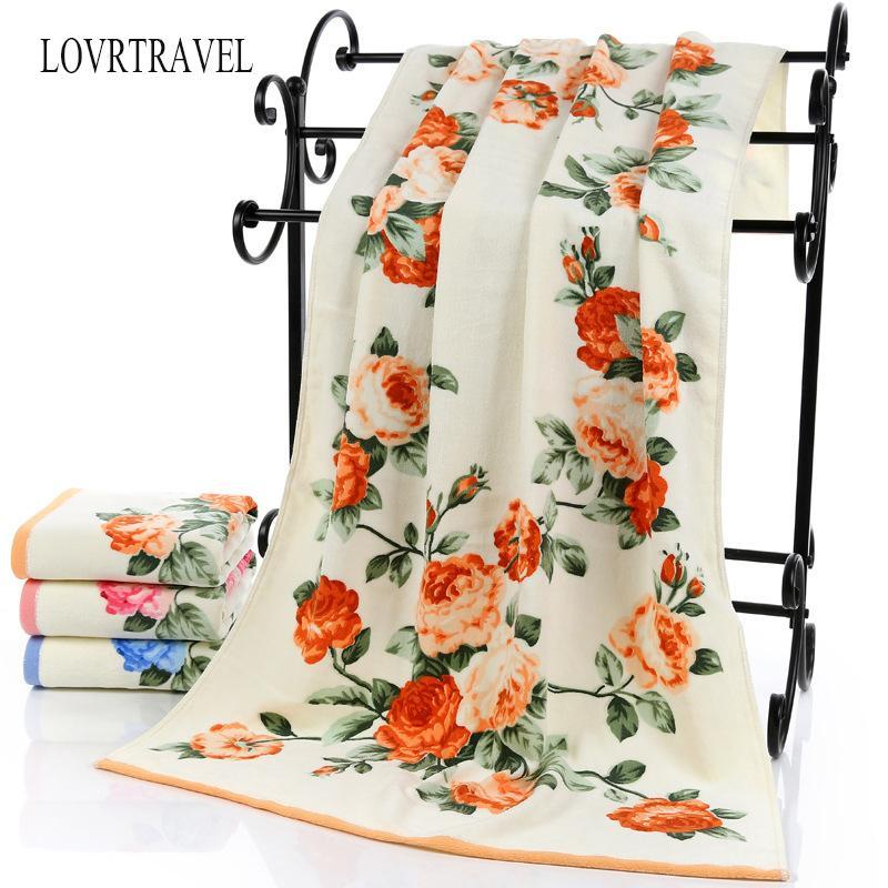 2020 New Luxury 100% Cotton Towel with Bath Towels New Women Peony Beach Towel Bathroom Set for Family Guest Bathrooms Gym