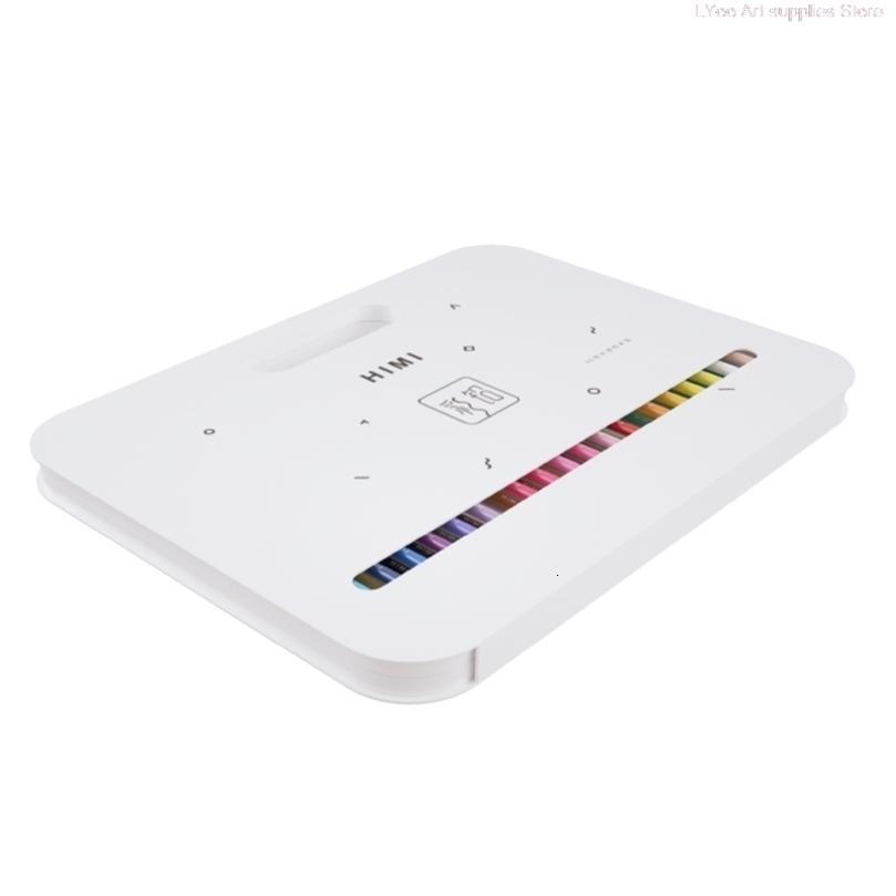 HIMI 24/36 / 48Color Suda çözünür Renk El-boyalı illüstrasyon Boyama Kalem Renkli Kalem Boyama Hediyeler Sanat Malzemeleri 201223