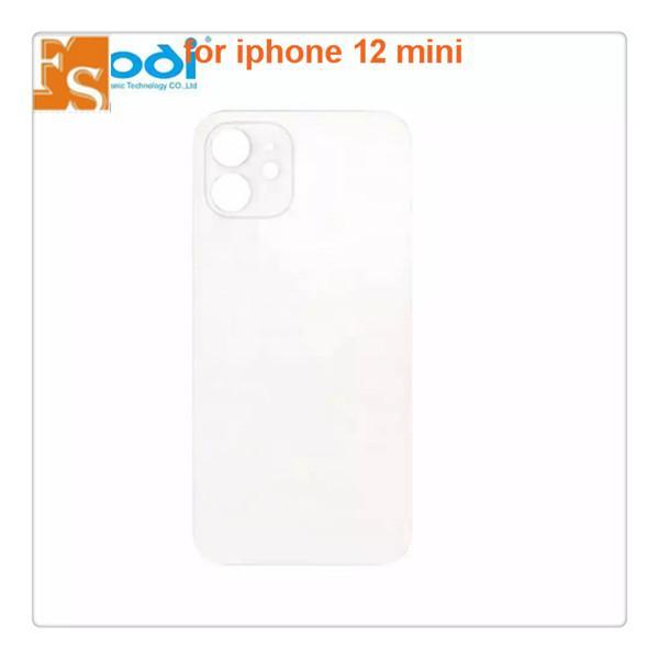 Reemplazo de vidrio trasero para iPhone 12 12 MINI 11 11PRO MAX 8 8PLUS X XS XR XS Cubierta de batería máxima Cubierta de la puerta trasera Original con logo