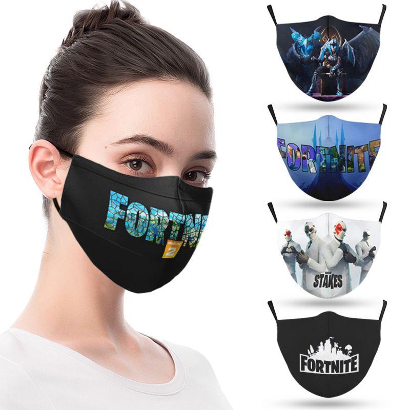 Designer moda face máscara jogos de máscara adulto impresso máscara reutilizável lavável poeira à prova de poeira moda unisex homens máscara de boca