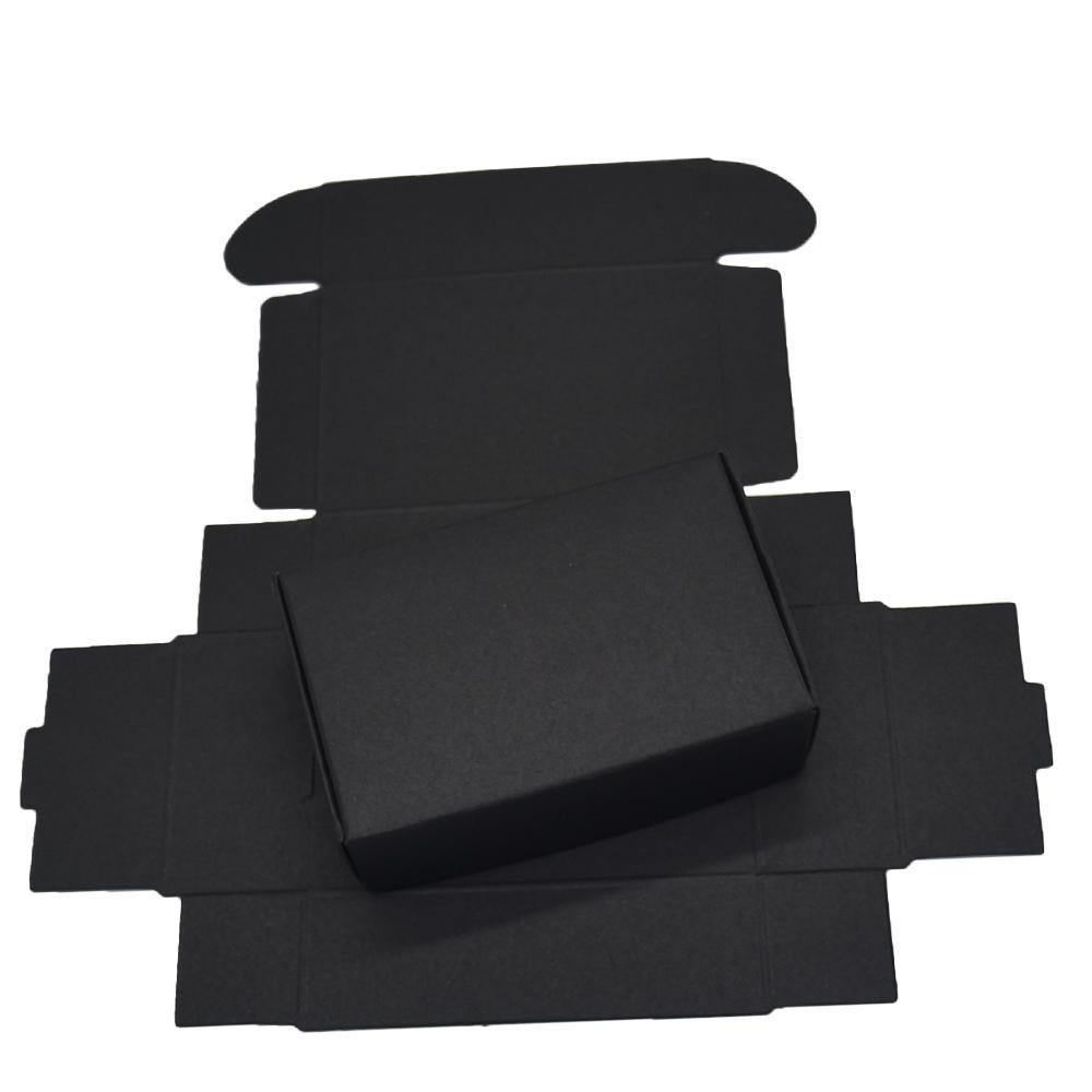 9.4x6.2x3cm Black Cardboard Paper Boxes for Wedding Gift Card Package Kraft Paper Box Birthday Candy Crafts Wrapping Decoration Box