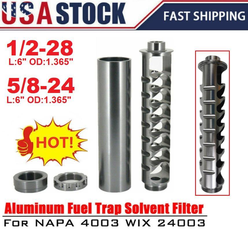 USA Stock-Spirale 1/2-28 oder 5/8-24 Einzelkern-Kraftstofffilter für NAPA 4003 WIX 24003 Auto-Lösungsmittel PQY-AFF03 / 04