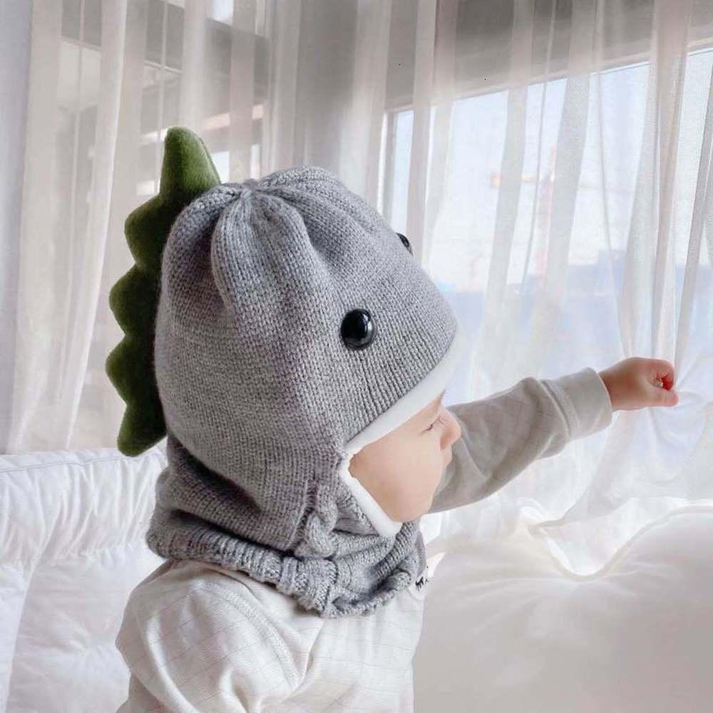 cap with one Children's men's scarf and women's Plush thickened baby knitted hatVS7K