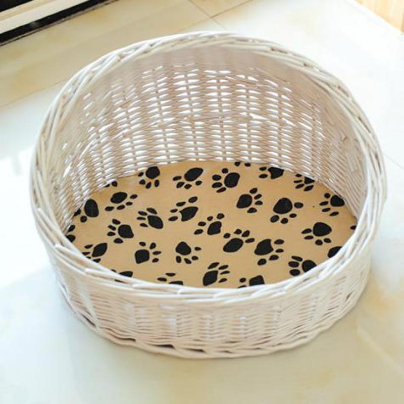 600 ротанга кошка гнездо кошка дом клетки ротанга чистая красная собака питомца питомца Тедди Тиберция летом четыре сезона универсальный съемный и
