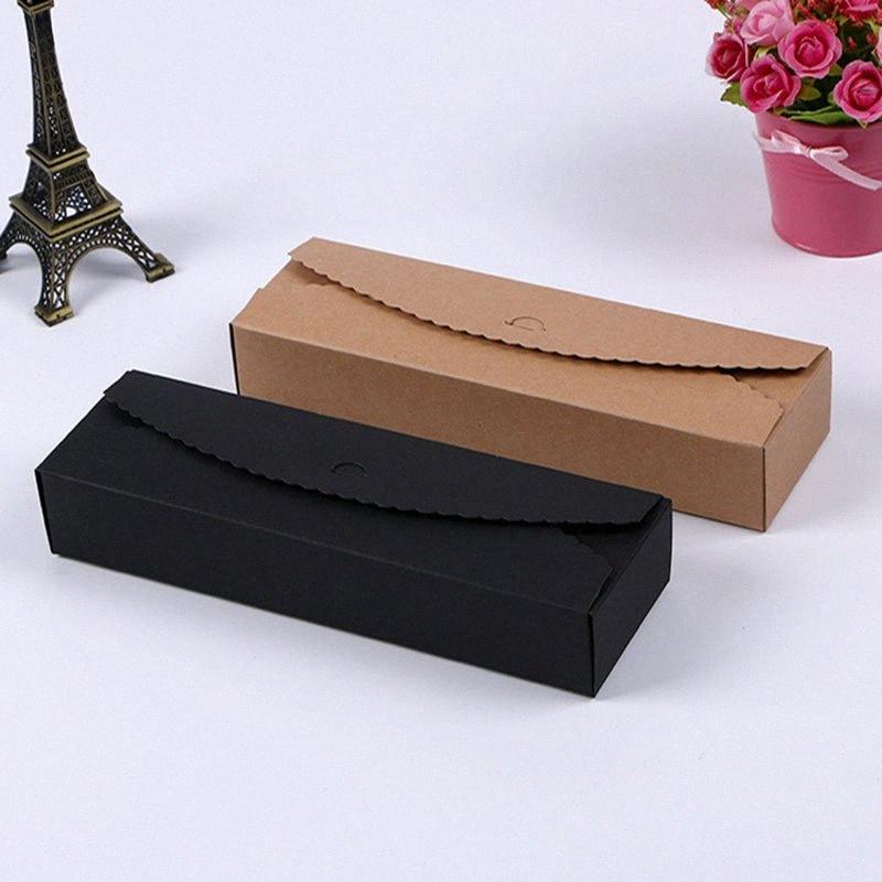 200pcs Kartenkarton Macaron Keks Pfannkuchen Verpackung Kraftpapier-Box Schmuck-Kuchen-Geschenk-Box IC4L #