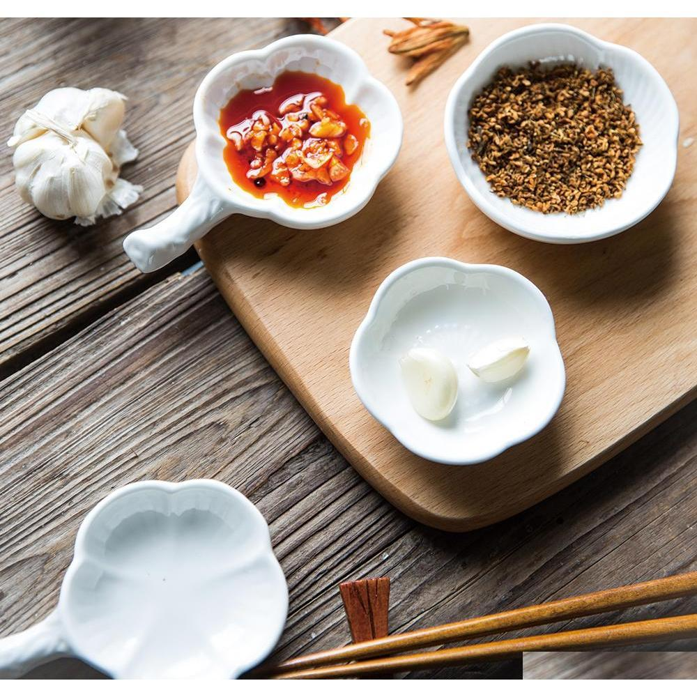 Piatti giapponesi in ceramica in ceramica piatti creativi spezie piatto bacchette salsa ciliegia jllfoy yummy_shop