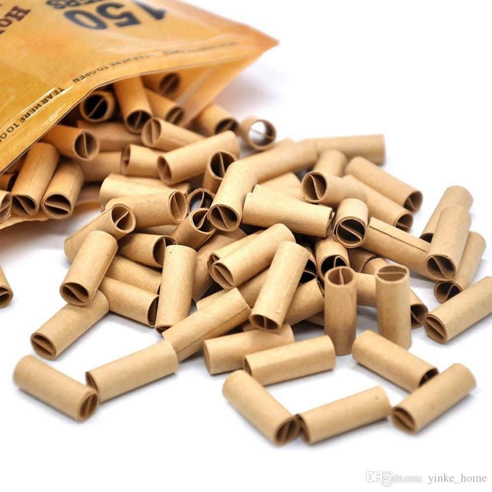 150Pcs 처분 할 수있는 담배 담배 필터 팁 사전은 담배를 흡연 압연 홀더 롤링 종이 팁 필터