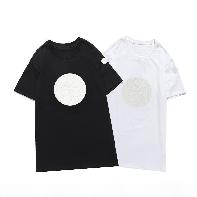 2020 Nuovo ricamo di lusso Tshirt moda personalizzata uomo e donna Designer T-shirt T-shirt femminili T-shirt di alta qualità Black and White100% in cotone