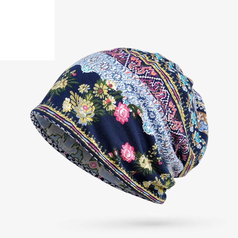 Женщины Цветочной раки Химиотерапия Hat Beanie шарф Тюрбан Head Wrap Cap Хлопок Повседневного Монтажн вязаная шапочка для женщин высокого качества #O