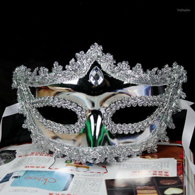 Filigranes Paar Kostüm Masquerade Maske Paar Venezianische Kugelabend-Ereignis Mardi Gras Strass Hochzeitsfeier Mask1