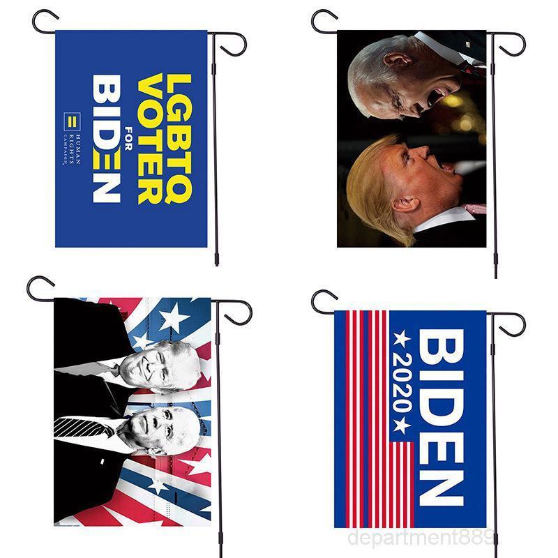 32 * 47 cm Biden Giardino 2020 Amercian President Campagna sostenitore rendono l'America Grande di nuovo in poliestere Bandiera Bandiere OWD2635