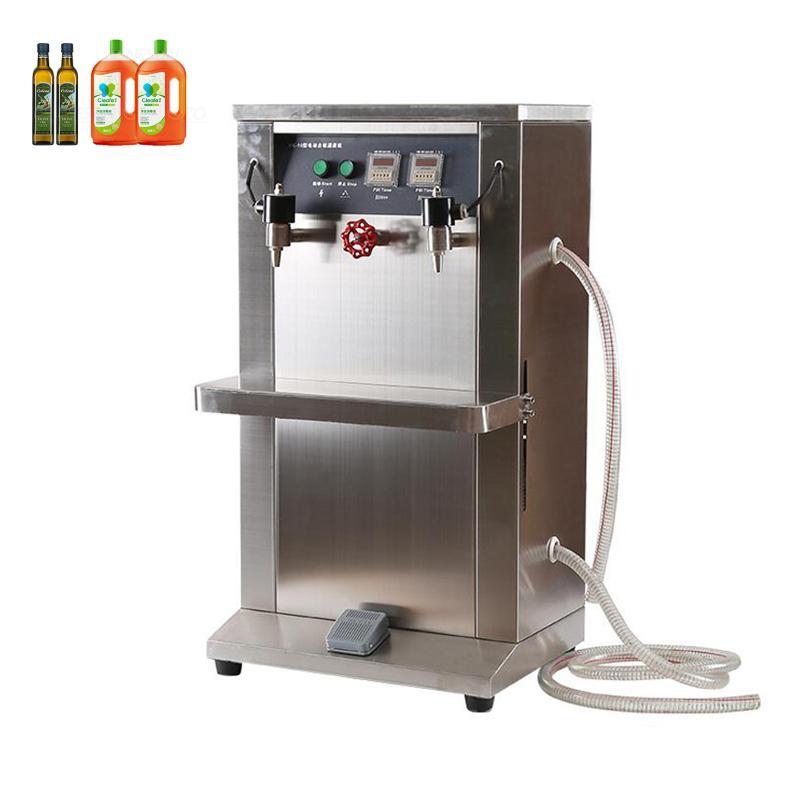 macchina di rifornimento elettrico riempitore liquido doppia testa per l'estetica latte acqua olio per macchina verticale otturazione quantitativo