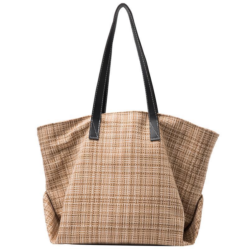 Handtas Handtasche Handbags Tote 2021 Woman Bags Hand Fashion Women à Main Femme Sacs Bags Jute Womens Designer Bag Damen Nreqs