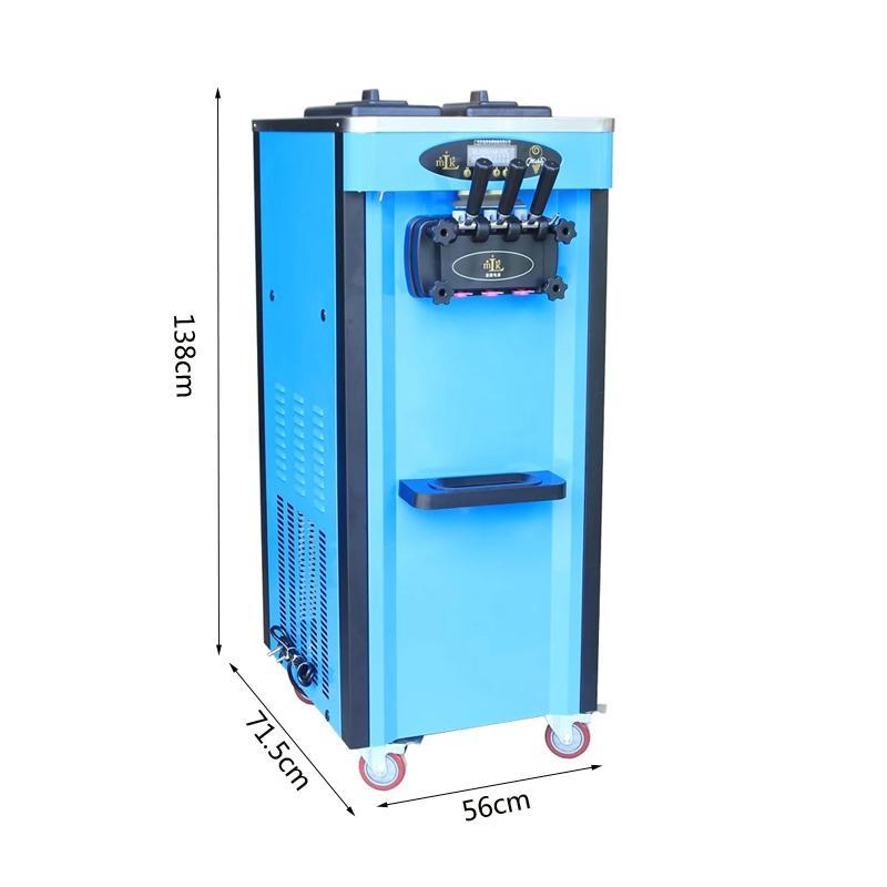 Crème commerciale Soft Serve Machine à glace électrique de haute qualité 220 V verticale 3 Flavors crème Machine à glace