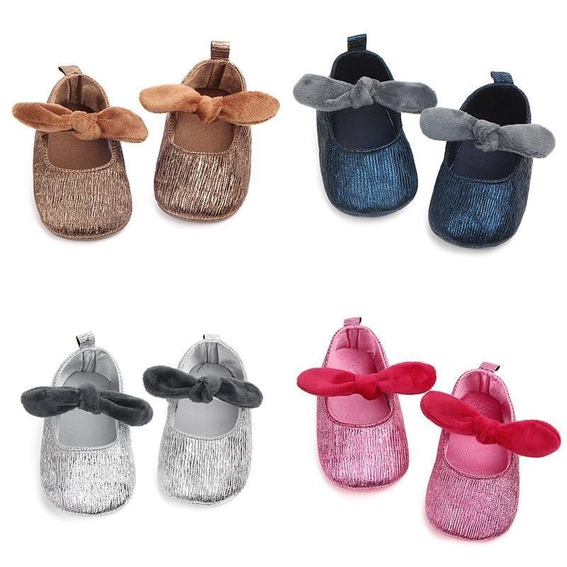 Baby girl princess zapatos antideslizantes transpirables infantil suave suela primero caminantes zapatos de banda elástica