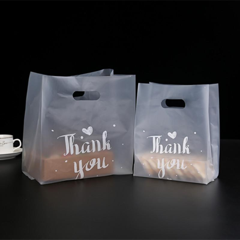Teşekkür ederim Hediye Paketi Plastik Kalınlaşmak Pişirme Ambalaj Çantası Ekmek Şeker Kek Gıda Konteyner Çanta 37 38gy L2