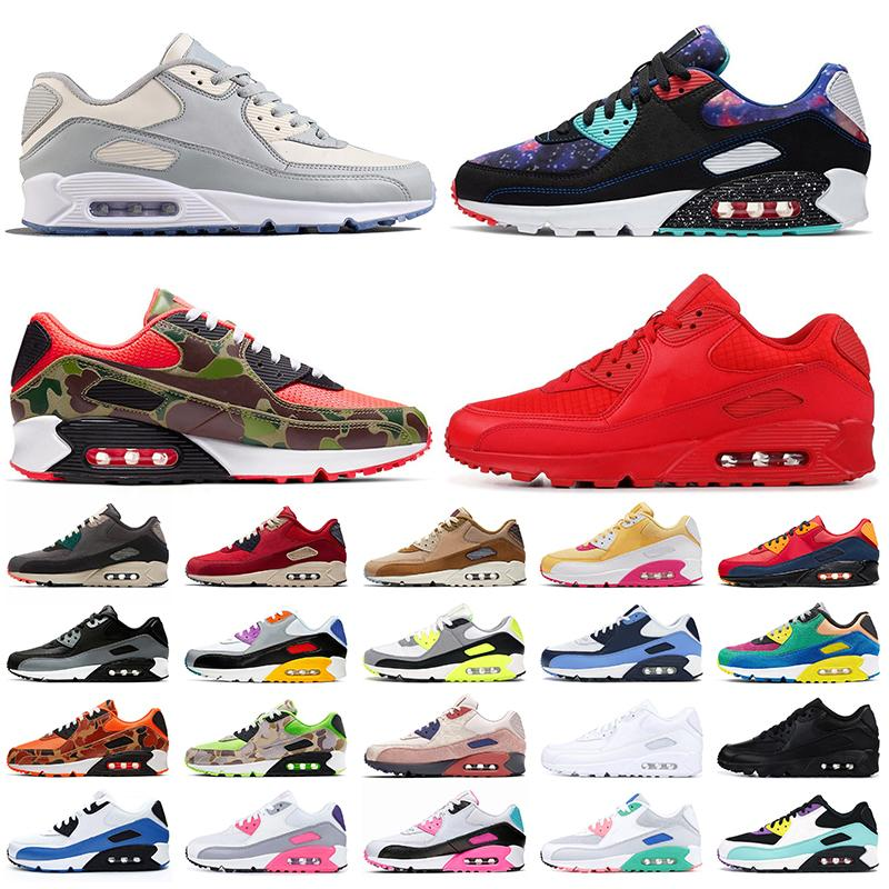 Top Fashion 90 size 12 Running Shoes for men women nik 2020 Dio Supernova OG Volt Green Camo Red Be Ture trainers sneakers