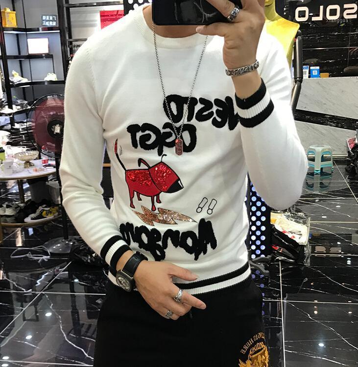 Случайные мужские трикотажные кашемировые пуловерные мужчины 2020 новая мода водолазка тонкий свитер осень мужские свитеры Tops1