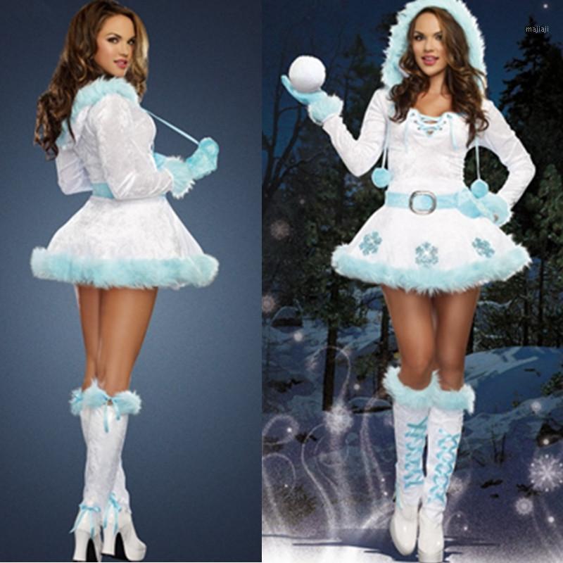 Ragazza Adulto Abiti natalizi Capodanno Xmas Female Dress Partito Delle Donne Deluxe Donne Dreamy Snow Maiden Xmas Costumi costumi1