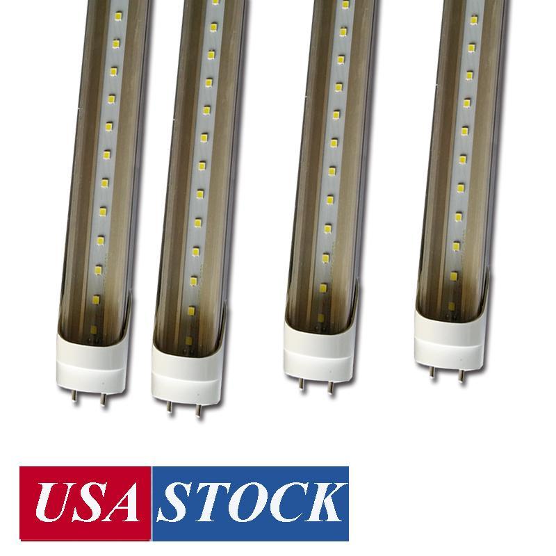 Dual fila T8 LED Tubos de luz 4 FT 4FEET 22W 22W 36W 72W bombillas iluminación LED Tubo fluorescente 4FT Gire Gorra G13 SMD2835