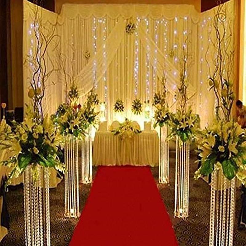 Centro de la borla de cristal para las piezas de centro de la araña de la boda Tablero de la mesa de la tablilla de la tablilla del pasillo de cristal Matrimonio