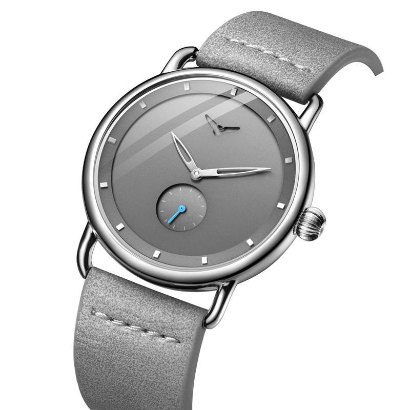 Повседневный часы мужчина бренд наручных часов простого waterpoor кожа человек смотреть ONOLA кварца люкс часы
