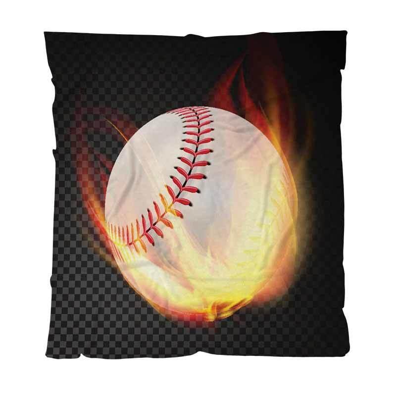 Coperta di baseball Coperte personalizzate colorato Full Digital Printing flanella da baseball sul fuoco che brucia Bambino adulti aria condizionata Quilt