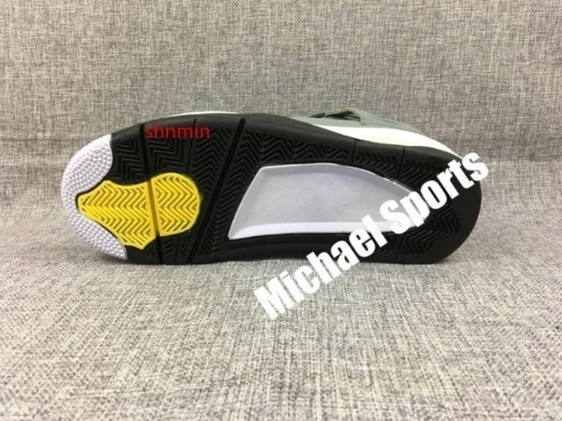 2019 4 Прохладный Серый новых 4S Классический баскетбол Дешевые кроссовки Спортивная обувь Мужские us7-US12 Тренеры с