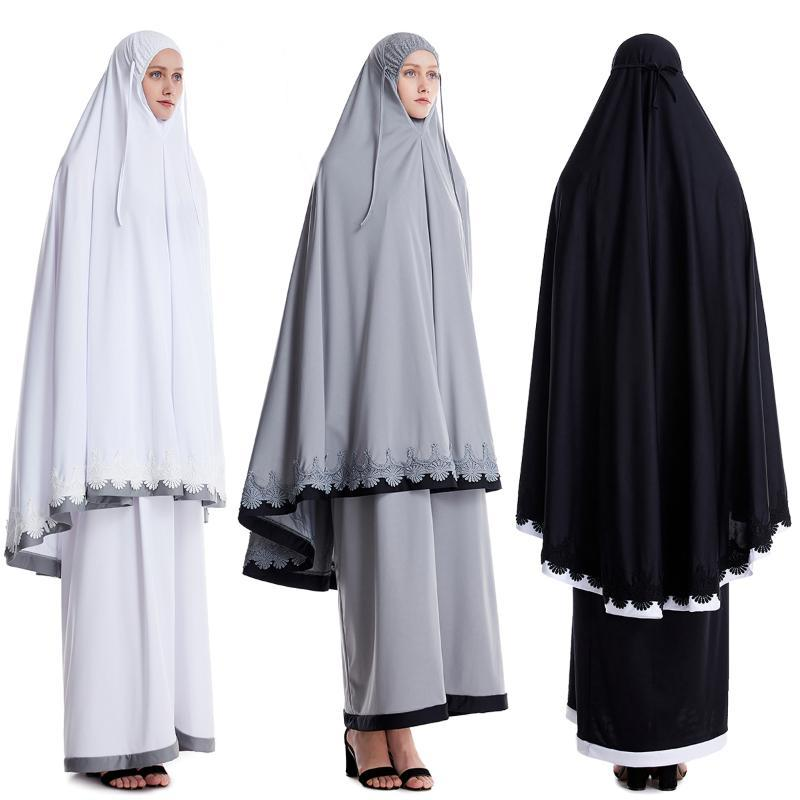 Turkey Namaz Long Khimar Hijab Dress Formal Muslim Prayer Garment Sets Women Abaya Eid Islamic Clothing Jurken Djellaba Abayas