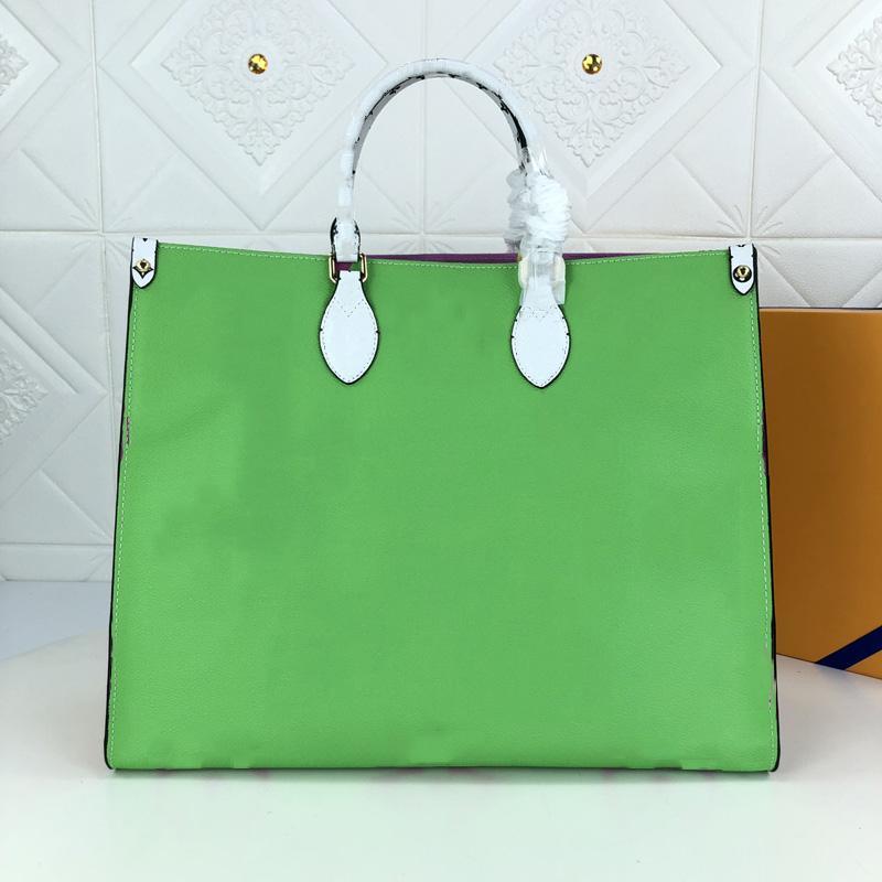 Nueva producción de cuero y confort generoso Número de mujeres: M44579 2021 Bolso bolso Moda Moda de gran capacidad de cuatro colores Diseño de mujeres Gaej