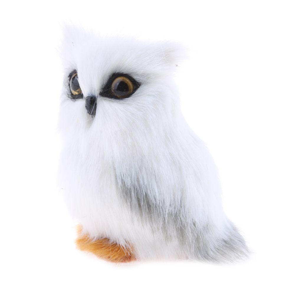 Mini Simulazione gufo animale della decorazione della casa artificiale di simulazione White Owl