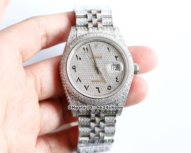 2020 9 estilos 41mm 126300 Full Diamond Steel Cal.3255 Autoamtic Mens Watch Diamonds Dial Diamond Bracelet Gents Watches