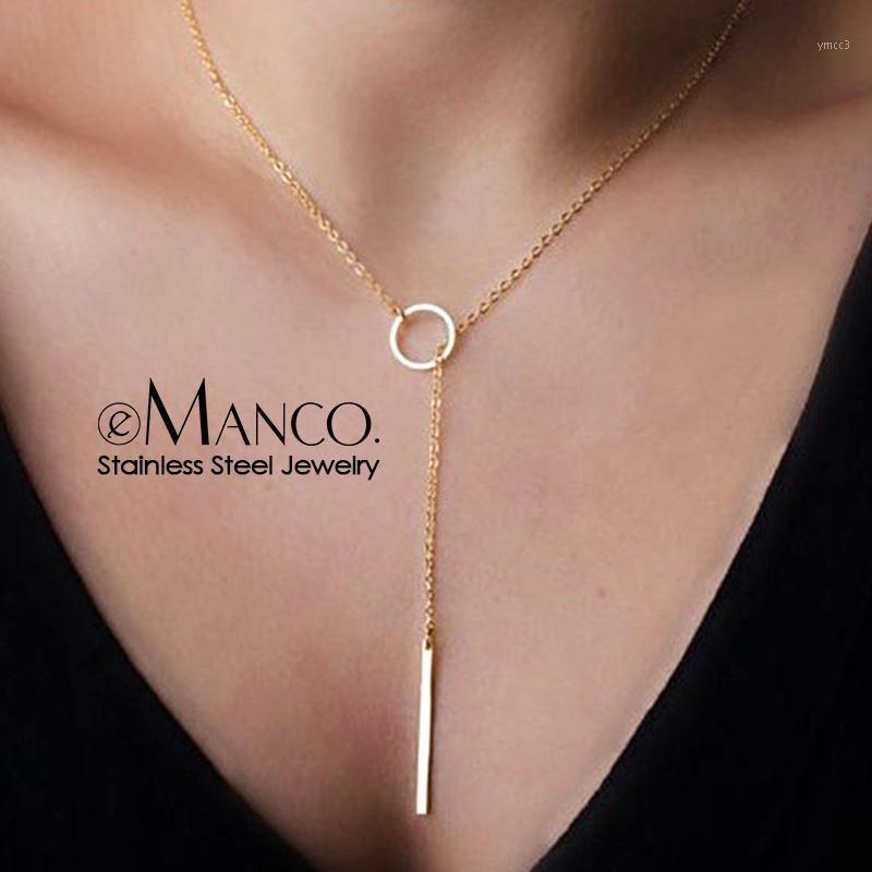 Оптовый корейский стиль полные ожерелья из нержавеющей стали для женщин Bokep Kolye кулон ожерелье мода ювелирные изделия YX154731