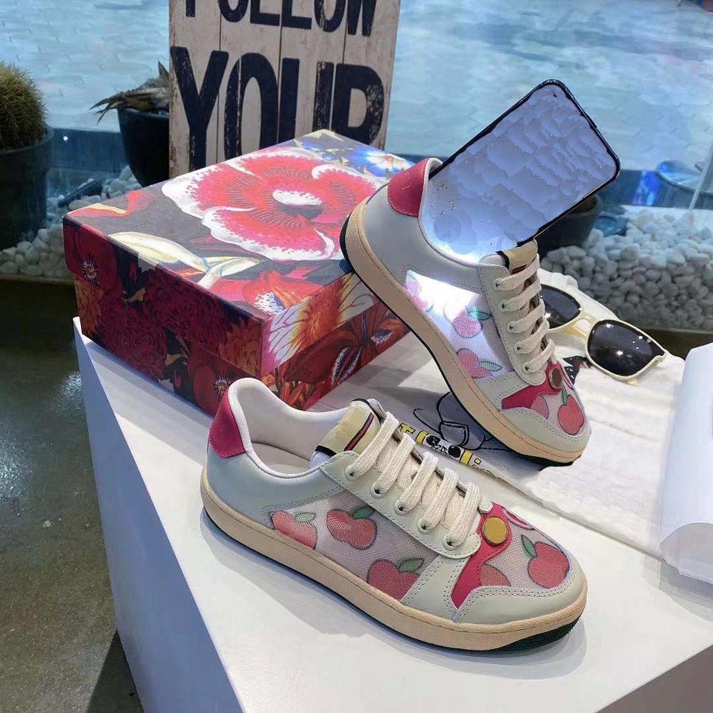 Düz Rahat Ayakkabılar Örgü Ayakkabı Sneaker Eğitmenler Yüksek Kaliteli Moda Düz Dantel-Up Ayakkabı AB: 35-44 Adam Kadın Için KUTUSU KUTUSU