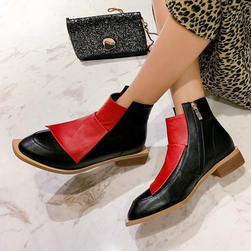 Stivali Ins Donne Caviglia Plus Size 22-26.5cm Lunghezza Donne di lunghezza SCARPE DONNA A FASHIBILE ANTRUMMA ANNUMN E INVERNO1
