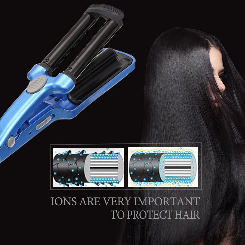 Профессионального Curling Iron Ceramic Тройного Barrel волос Вэйвер Стайлинг Инструменты для волос бигуди Электрического керлинга Стайлинг Инструменты