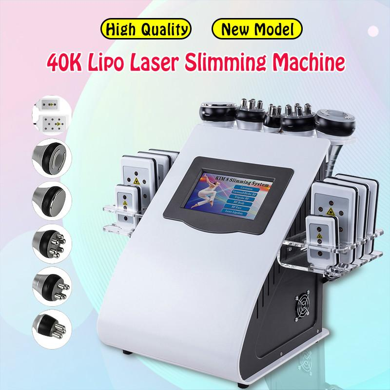 Venda quente máquina de radiofrequência corpo emagrecimento 40k ultrassônico gordura cavitação rf pele apertando a pele elevador de lipoaspiração de vácuo