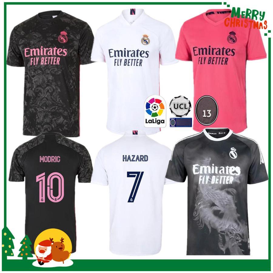 20 21 ريال مدريد كرة القدم جيرسي بنزيما Vini JR MIDRIC ASENSIO SERGIO RAMOS HAVARD 2020 2021 الرجال البالغ + أطفال كيت قميص كرة القدم الرياضية