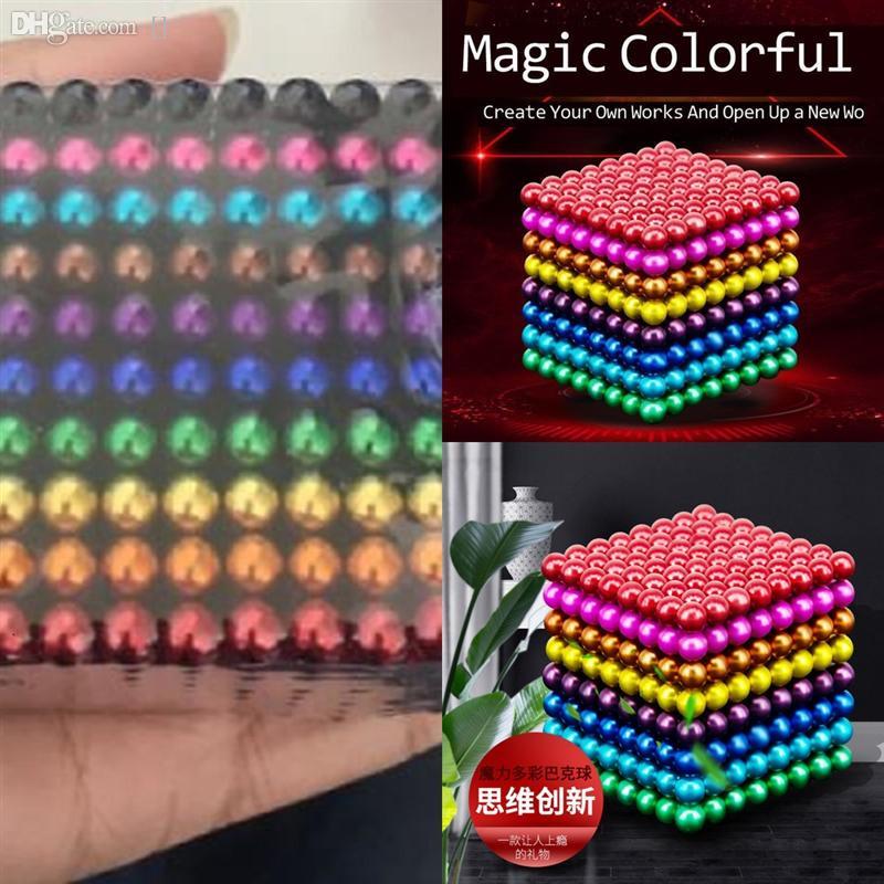 BCMTJ squishy enfant jouets éducatifs bois intellectuel décompression jouet jeux jouet petit puzzle ballon magnétique buckyball stylo