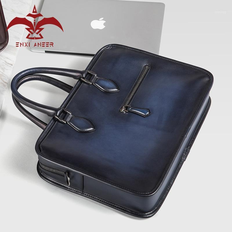 Backcases Bate Homens Bolsa! Bolsa de trabalho de maleta de estilo vintage personalizado azul / marrom / borgonha / cinza 38x7x28cm sacola grande para
