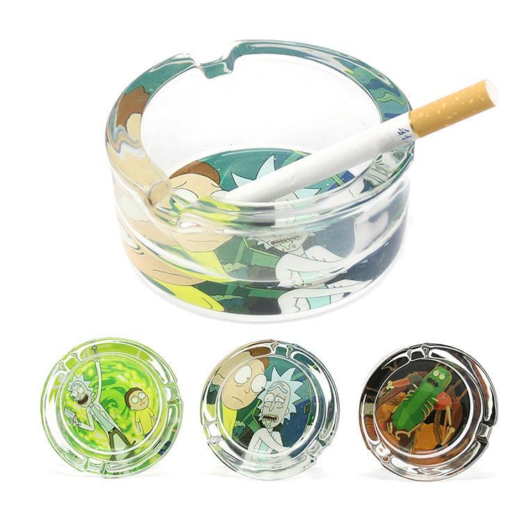 Премиум ручной работы из стекла Пепельница Три сигареты Ash держатели 85мм сигареты Пепельница Курение сигары Пепельница стекла