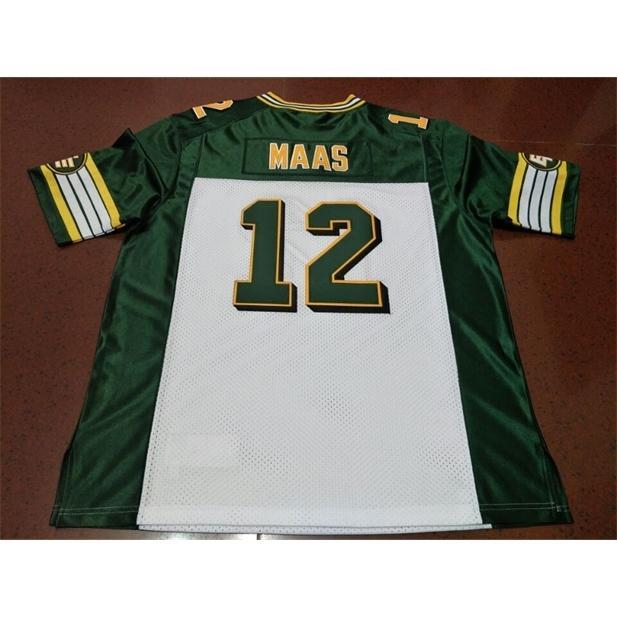 Benutzerdefinierte 121 Jugendfrauen Vintage Edmonton Eskimos # 12 Jason Maas Football Jersey Größe S-4XL oder benutzerdefinierte Name oder Nummer Jersey